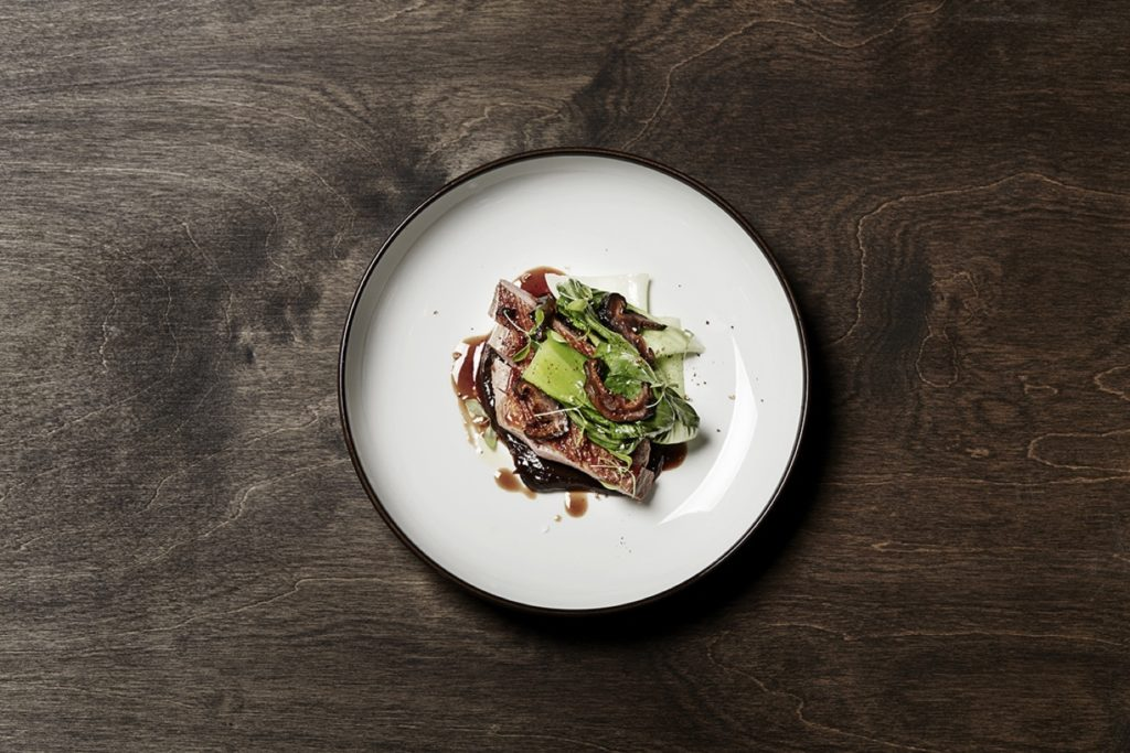 Maträtt på japansk restaurang på Kungsholmen i Stockholm