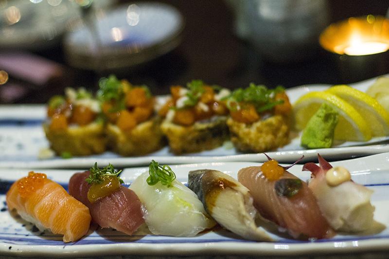Sushi på japansk restaurang på Kungsholmen i Stockholm