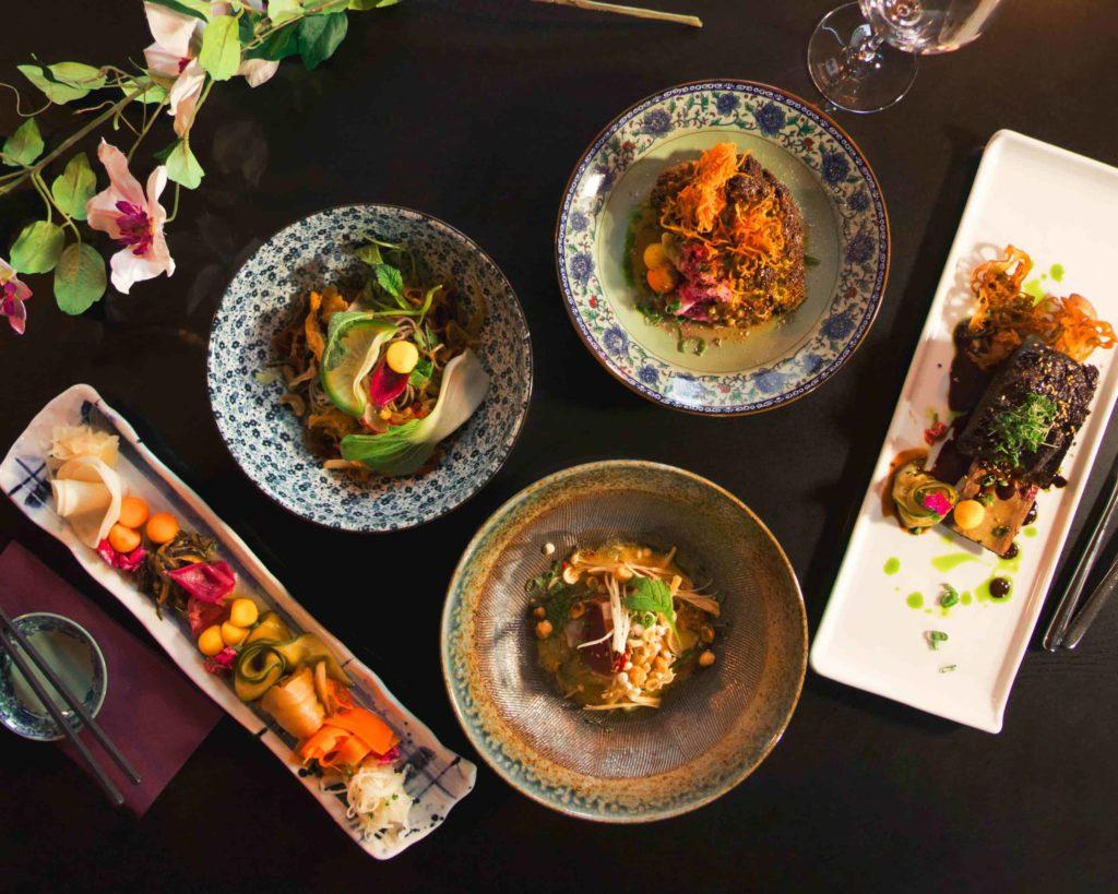 Maträtter på japansk restaurang på Kungsholmen i Stockholm